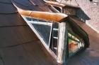 Organisch cortenstalen dak voorzien van onderdak, ecologische isolatie, dampscherm