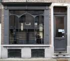 Art-nouveau raam in staal. Smeedwerk. Hoogrendementglas. (voor meer info schrijnwerk zie downloads pdf: stalen schrijnwerk)