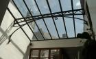 Art-nouveau veranda. Smeedwerk