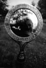 Spiegel, damast gemaakt met fietsketing