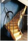 Trapleuning gesmeed naar ontwerp van klant Marleen Hennot