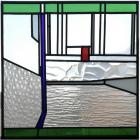 Glas-in-lood raam 50 X 50 cm